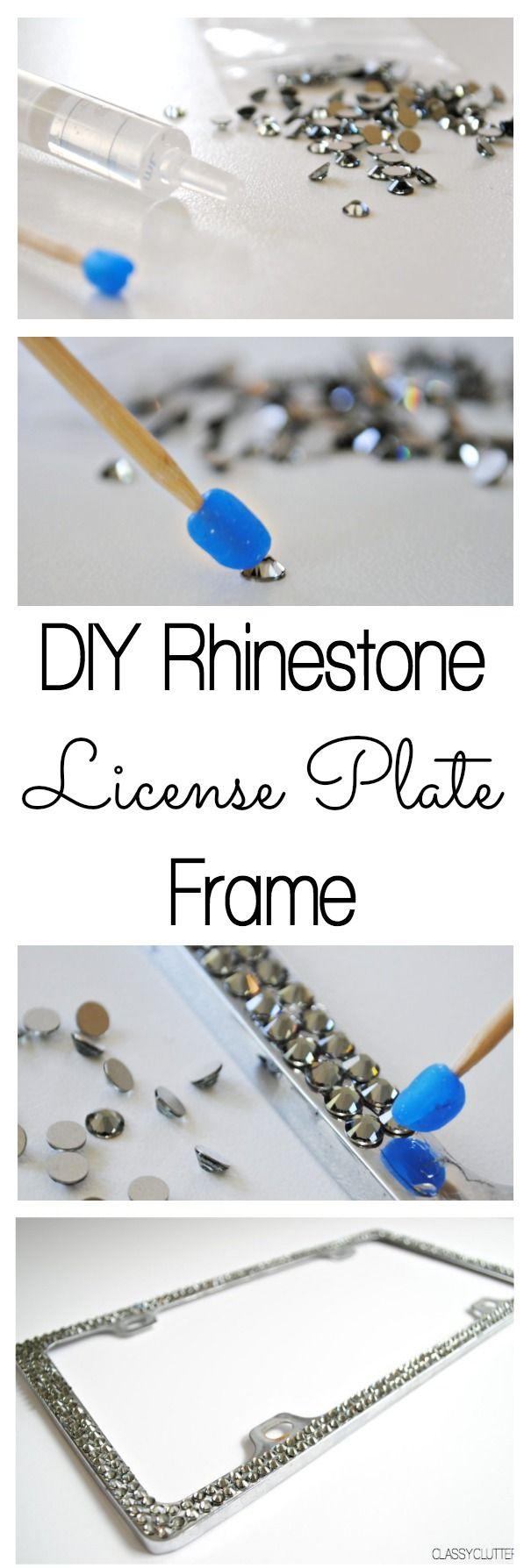 Black 2 Pack Bling Rhinestone License Plate Frames for Women,/Cute Diamond Car License Frame with Bow