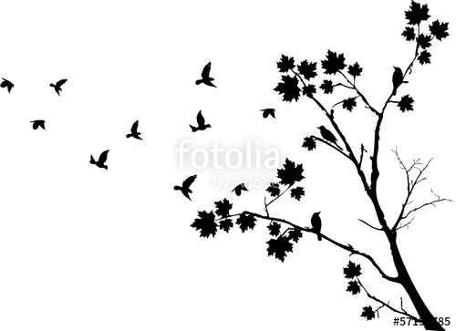 Autumn tree silhouette Icons   Free Download