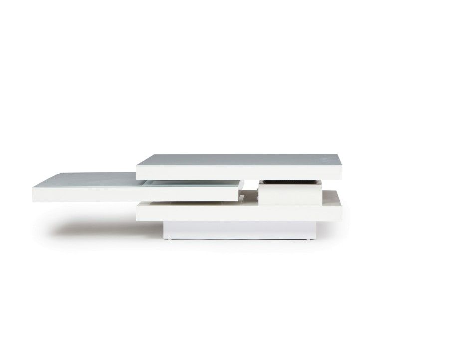 PICASSO - Swivel coffee table - White