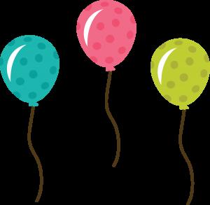 polka dot balloons svg