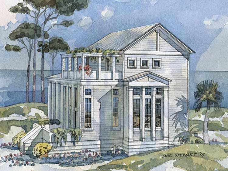 Eplans Greek Revival House Plan Classical Retreat From The Southern Living Coastal House Plans Lake Front House Plans Beach House Plans