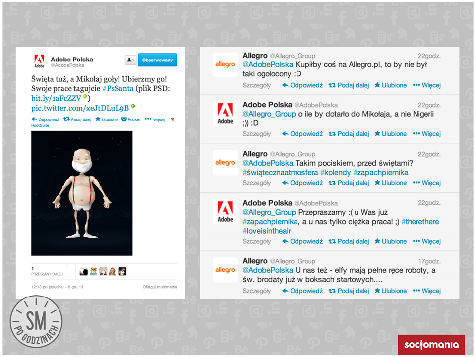 Adobe Polska I Allegro Na Twitterze Jako Przyklad Pozytywnej Komunikacji Twitter Allegro Adobepolska Socialmedia Socialmediapogodzinach