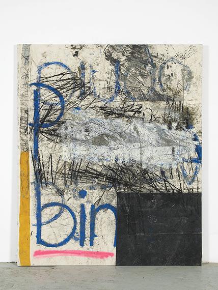 Oscar Murillo another 3am shift!, 2012 oleos, pintura en aerosol ...