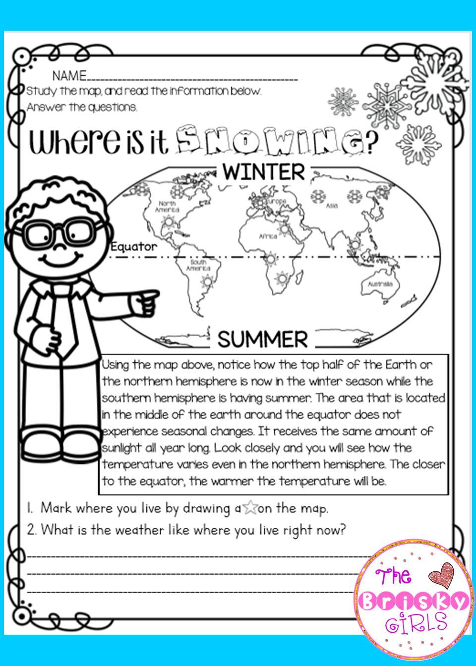Winter Weather Activities Winter Science Activities Reading Passages Winter Science [ 1344 x 960 Pixel ]