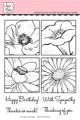 Flower Blocks 2 Clear Stamp Set           Sweet & Sassy stamps           $26.00