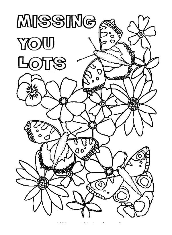 Big Heart Fro You Because I Miss Coloring Pages