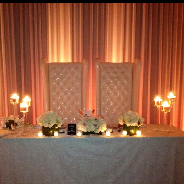 Exceptionnel Bride And Groom Table