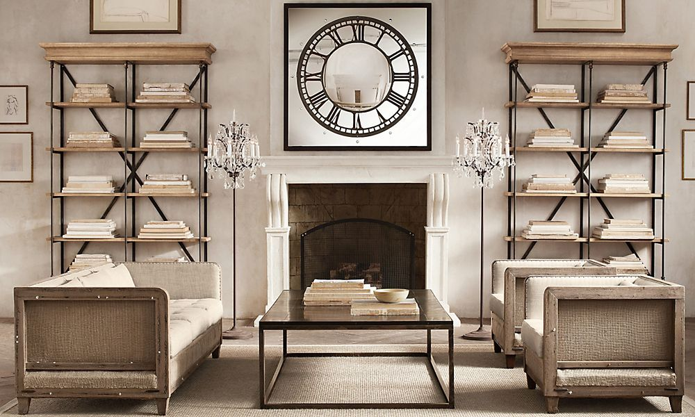 Cool floor lamps for the fireplace Restoration Hardware