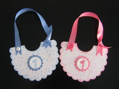 baby bib card tutorial