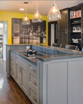Graphite And Grey Kitchen Kitchen Island With Cooktop Kitchen