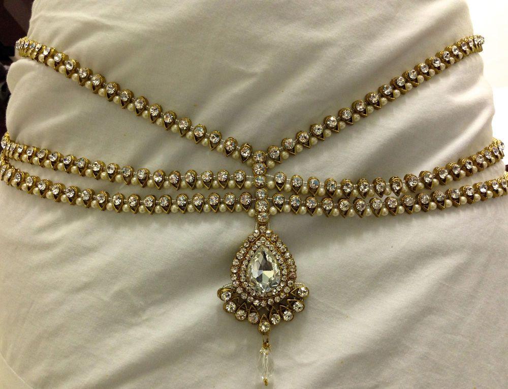 Indian Jewellery Sari Belt/Waist Chain Artificial Pearl & Diamante ...