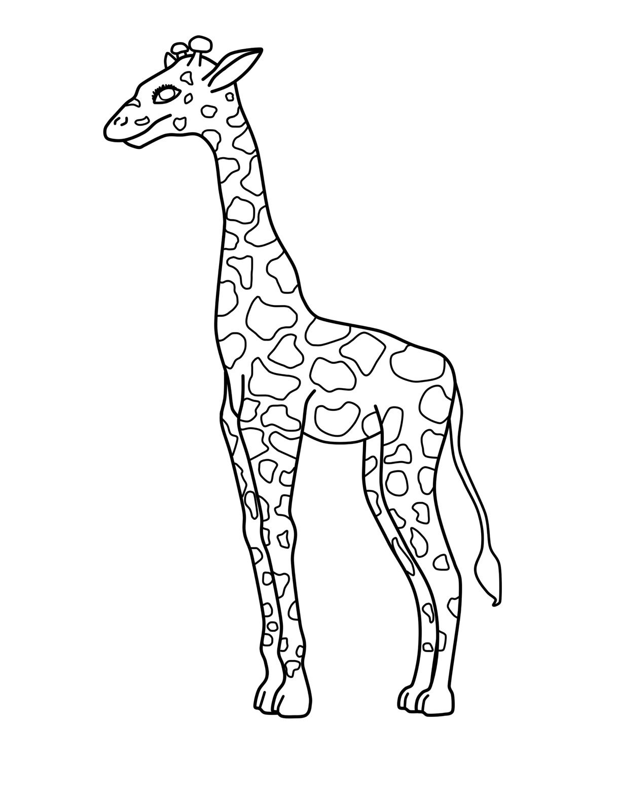Free Printable Giraffe Coloring Pages For Kids (With
