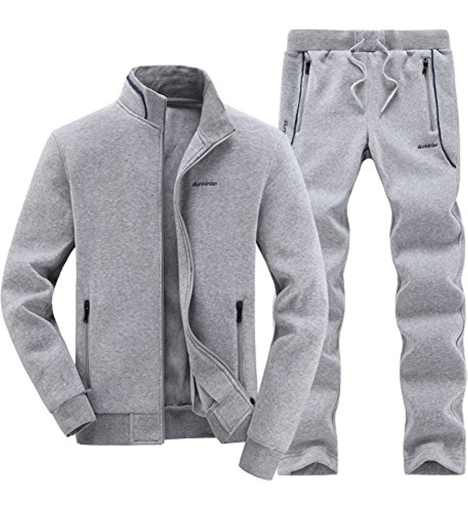 f6ed58b41ca Mens Tracksuit Classic Autumn Winter Warm Up Jogging Suit Gray XL --  Awesome products selected by Anna Churchill
