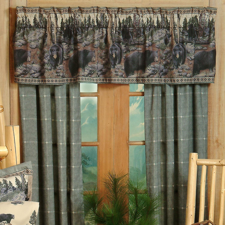 Attractive Amazon.com   The Bears Cotton Blend Rod Pocket Ruffled Curtain Valance    Window Treatment