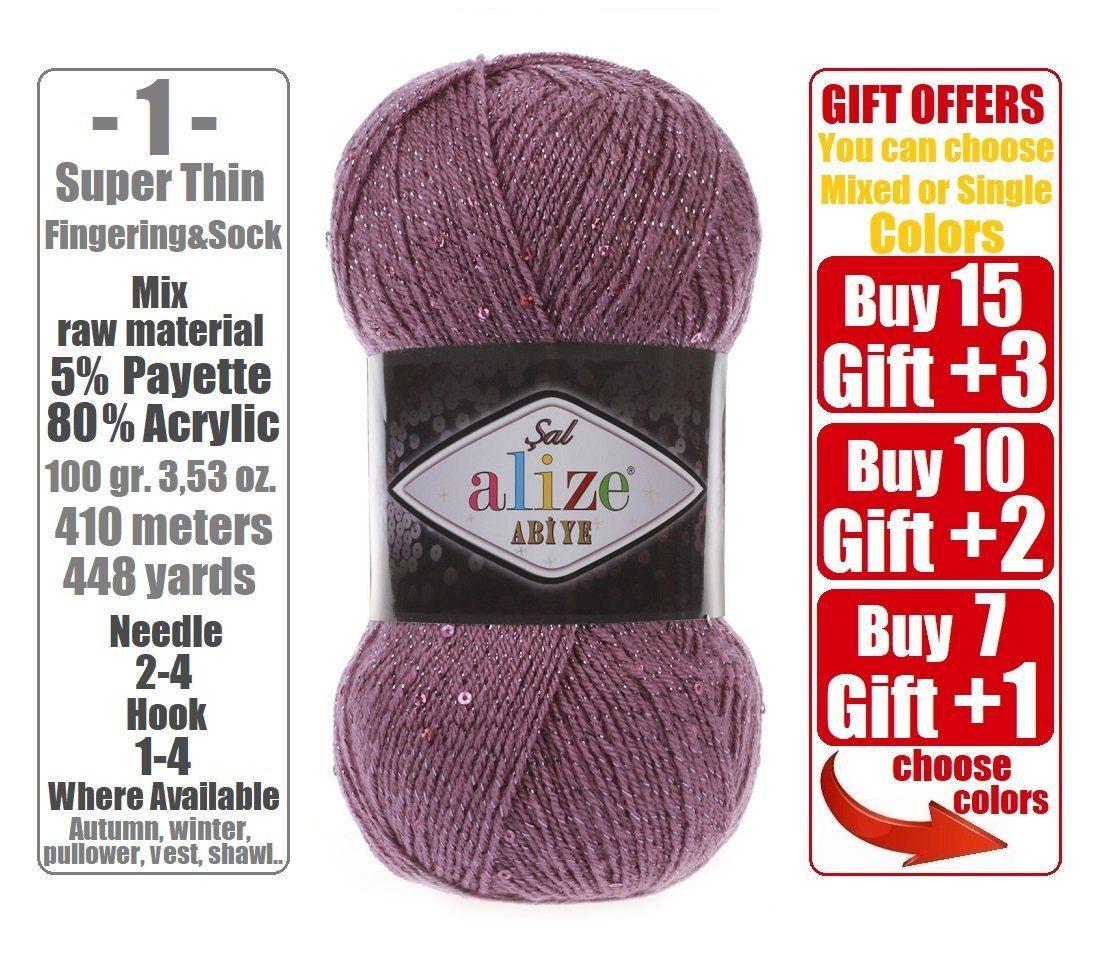 sequins yarn Alize Sal Shawl Abiye metallic yarn payette bolero yarn payette yarn crochet yarn Stylish yarn glitter lace yarn hat