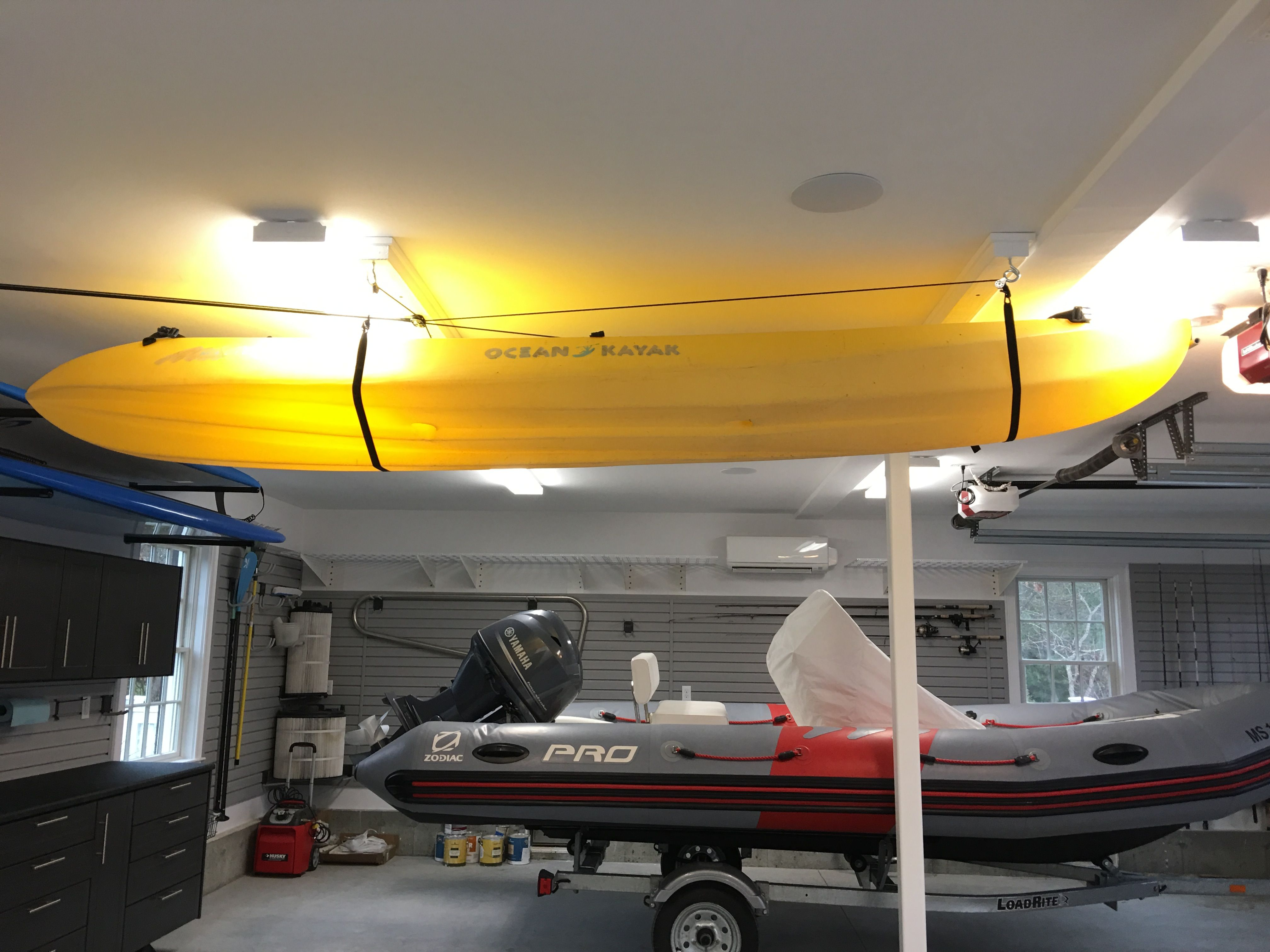 model product lift power gator paddle lbs overhead storage system garage sports hoist