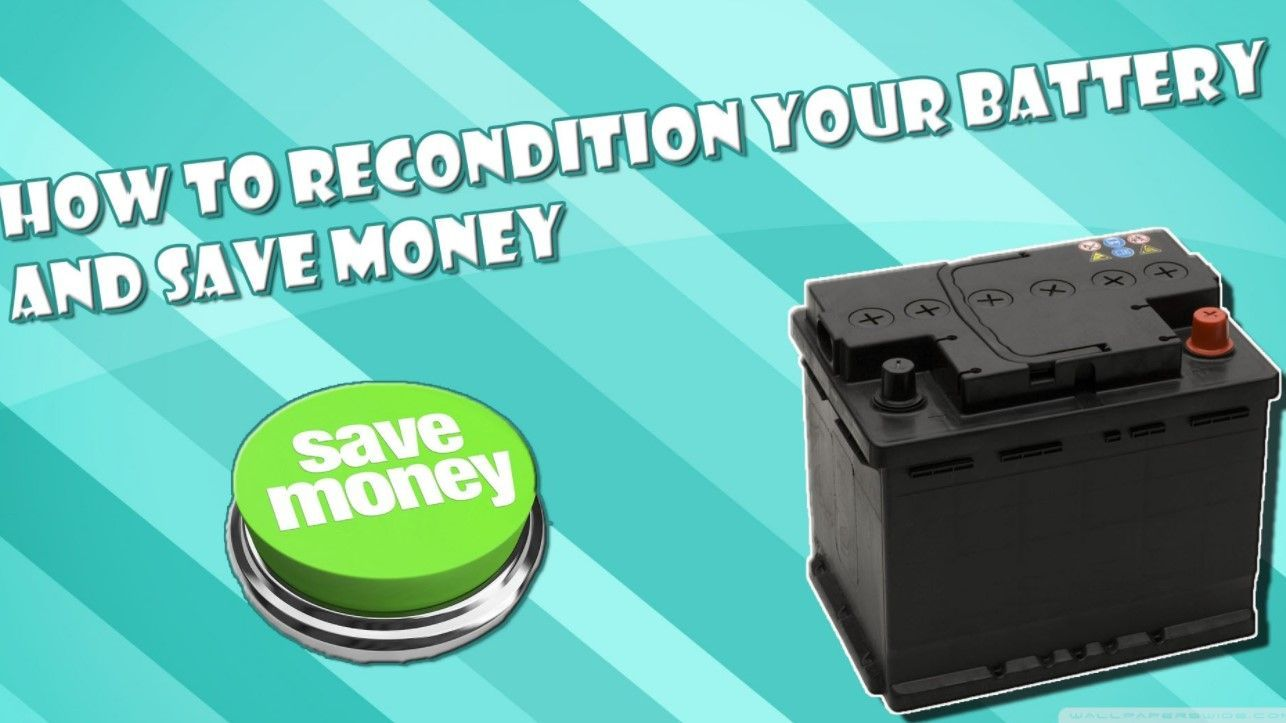 How To Recondition Deep Cycle Batteries At Home Deep Cycle Battery Dead Battery Battery