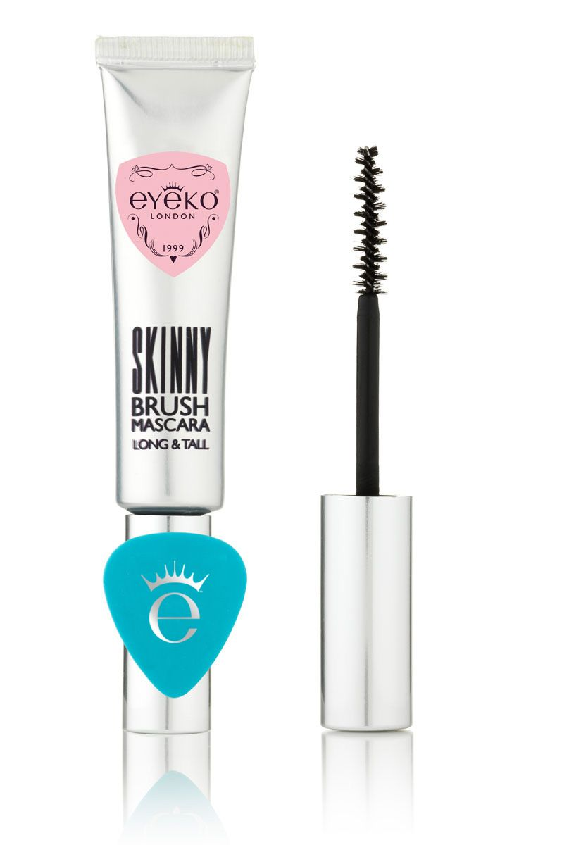 Eyeko Skinny Brush Mascara. $19. REALLY good reviews and comes with a smudge preventer... I say it's a guitar pick xD