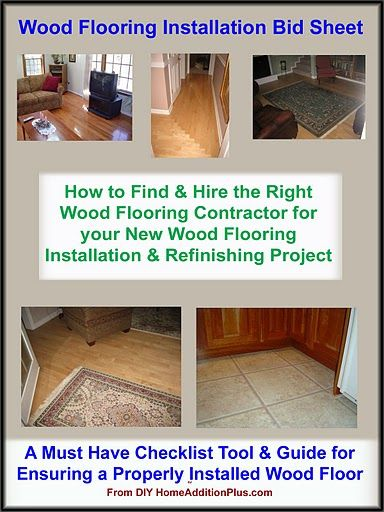Here Is A Wood Flooring Installation Bid Sheet For Helping
