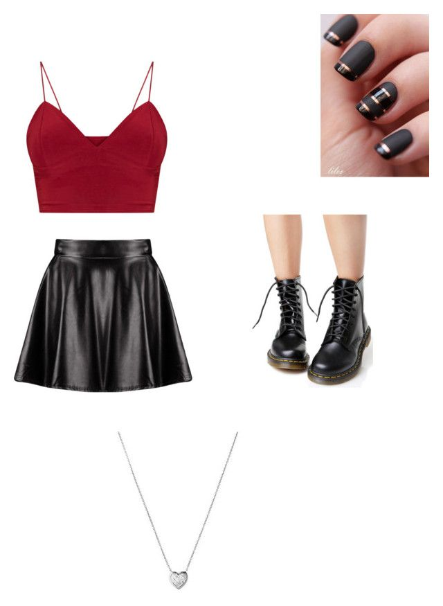 """""""Raiden #1"""" by thatanimeefreakk on Polyvore featuring Dr. Martens, Boohoo and Links of London"""