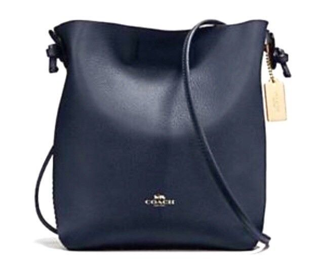 2e3d2408f4bb COACH Derby CROSSBODY Pebble Leather 58661 Midnight Blue Lapis FREE SHIP