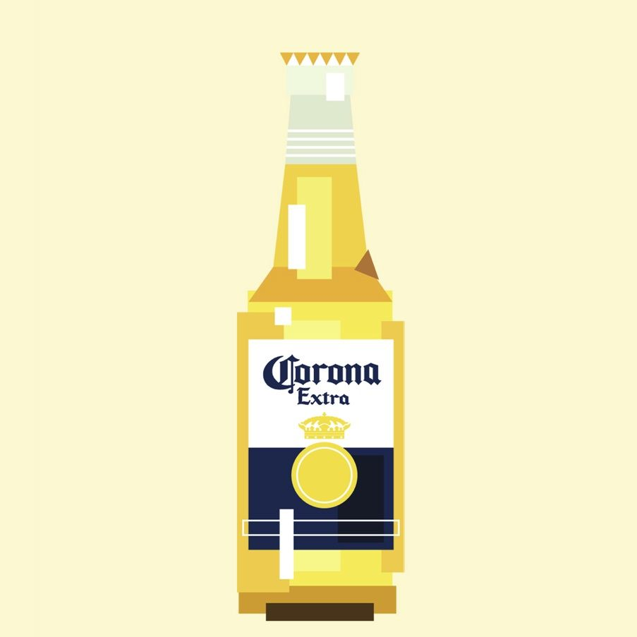Download Label corona beer   Beer illustration, Bottle drawing ...