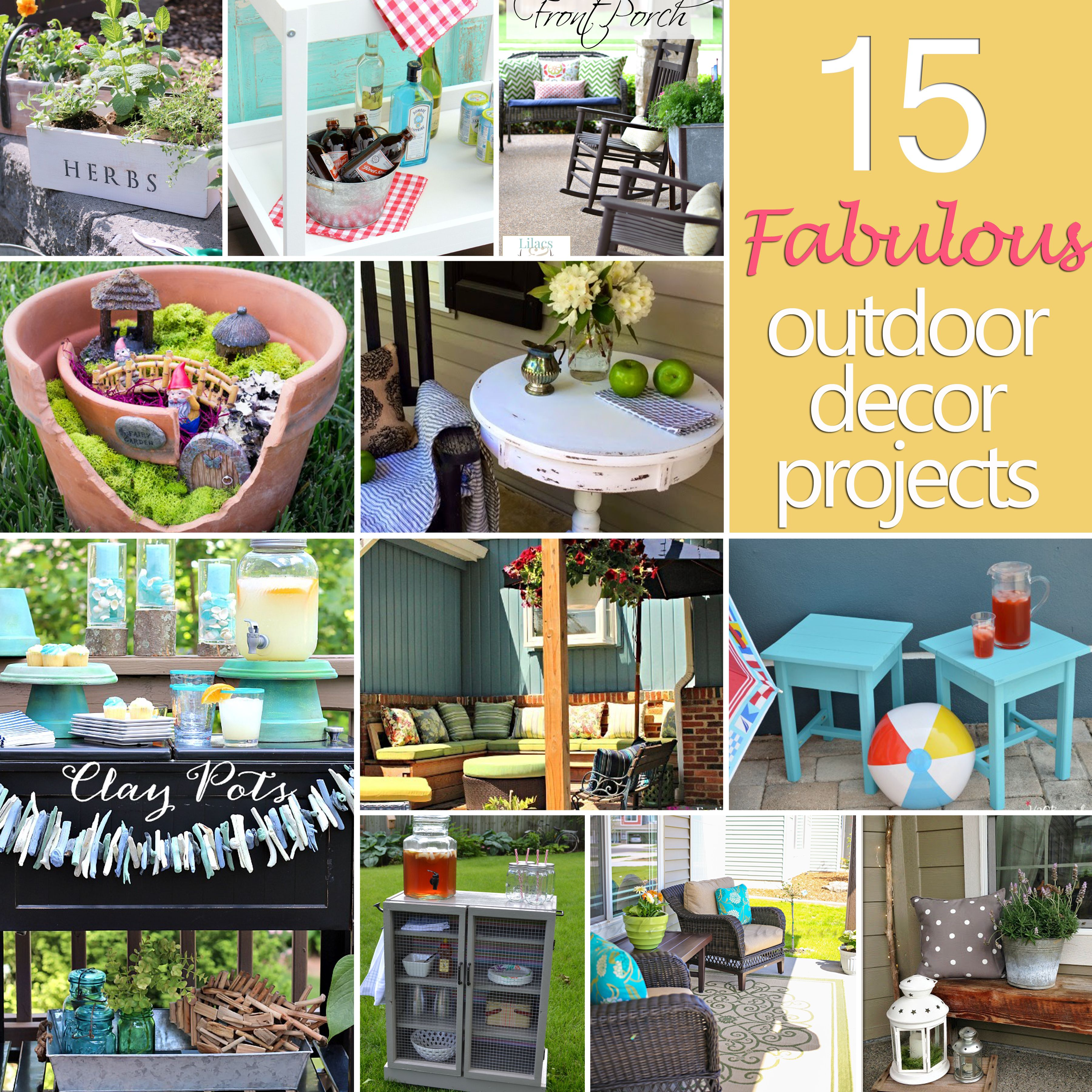 52 Vivacious Summer Porch Decor Ideas: 15 Fabulous Outdoor Decor Projects {DIY Challenge Features