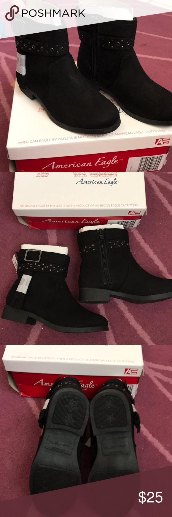 c72c8ee63a Girls Boots Brand new still in box girls zipper boots with a cute tassel on  the side American Eagle By Payless Shoes Boots
