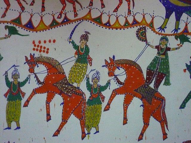 30 Rathwa and Pithora Paintings from Gujarat and Madhya Pradesh ideas in  2021   animal motif, folk art, plant life