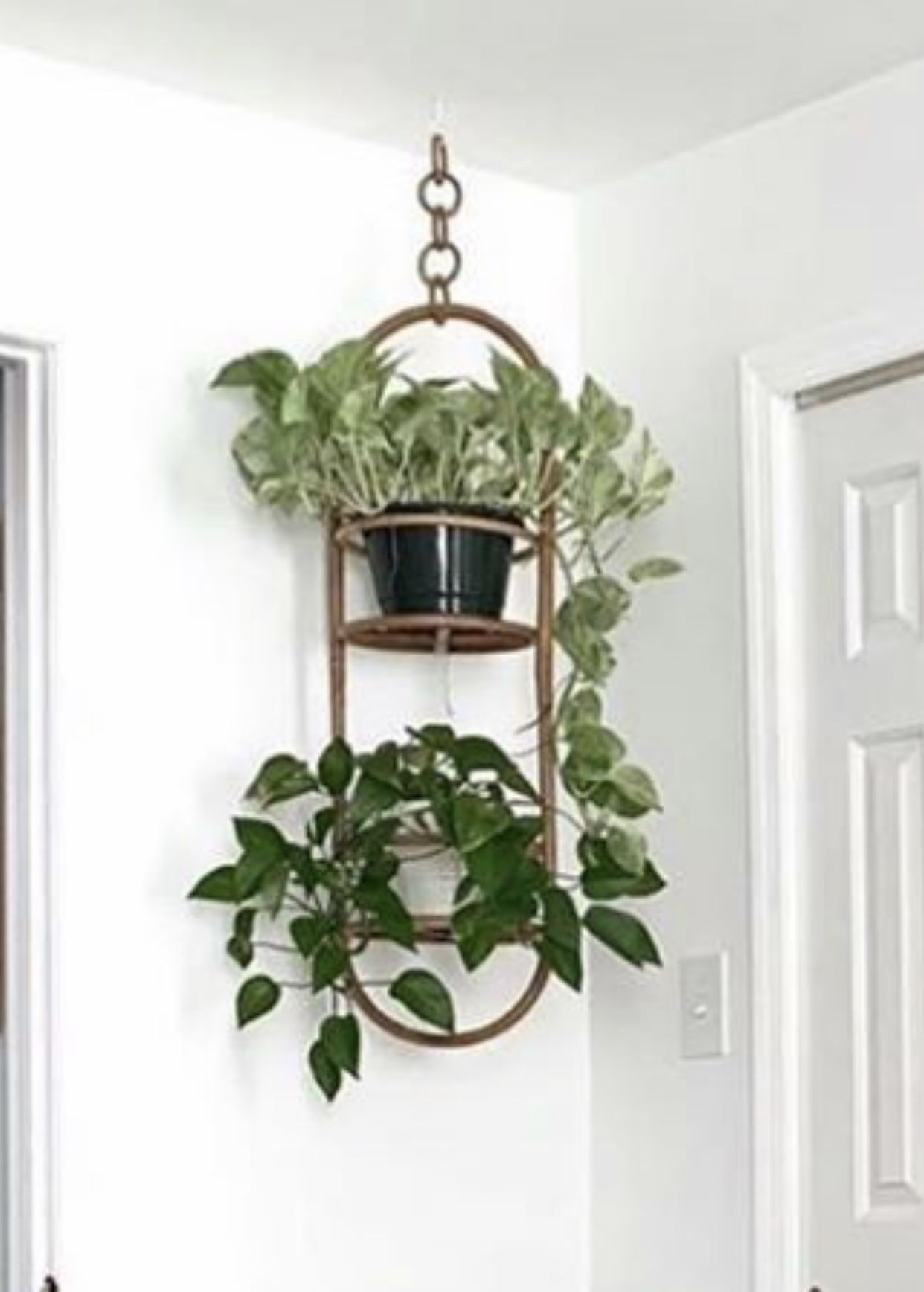 Platforms Make It So That You Can Still Have Drainage Trays Under The Pots Hanging Planters Planters Planter Pots