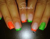 Photo of FRENCH SAND NEON by gerinails  Nail Art Gallery nailartgallery.na by Nails M
