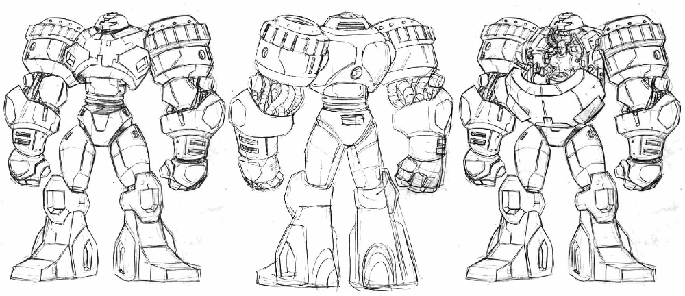 Character design by Ess Doubleyew on MECHABOT Sketches