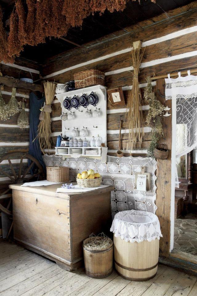 Maamaja köögi sisustus.