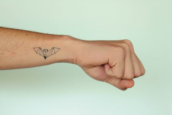 2 Origami Bat Temporary Tattoos By POMPOMmx On Etsy