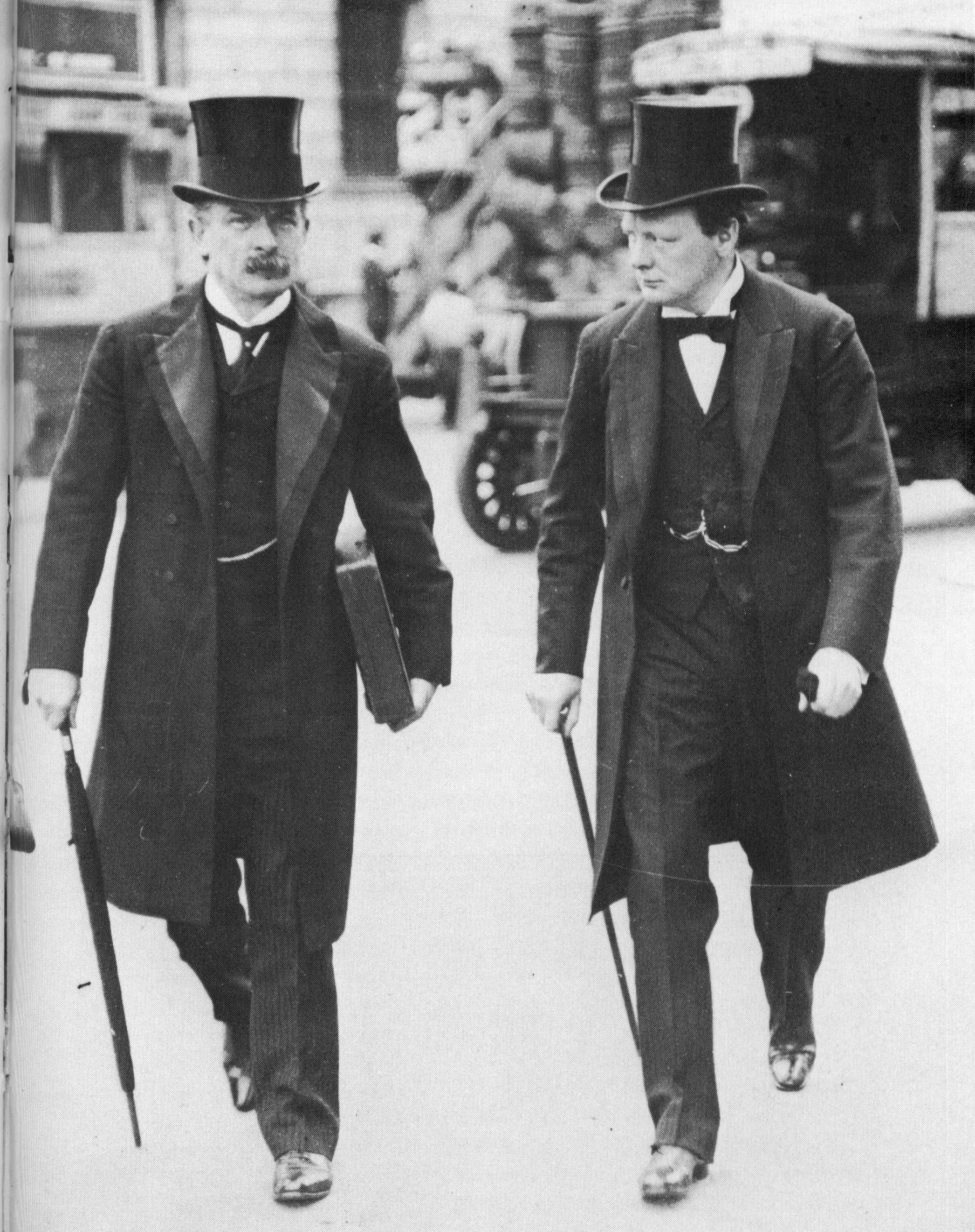 533a66aaa81 British formal dress  David Lloyd George (left) and Winston Churchill wear  frock coats and top hats