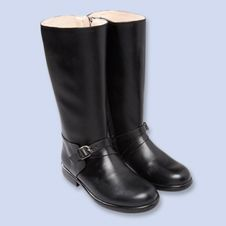 Classic leather riding boots ,Girl