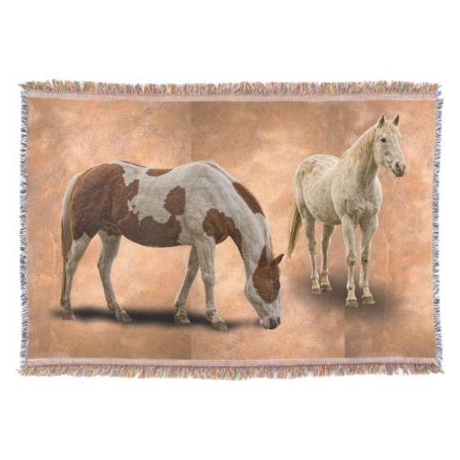 HORSES Blanket Throw Home Decor