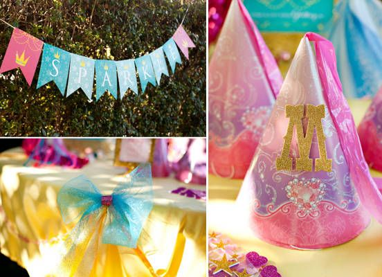 decoracin en fiesta de princesas de disney