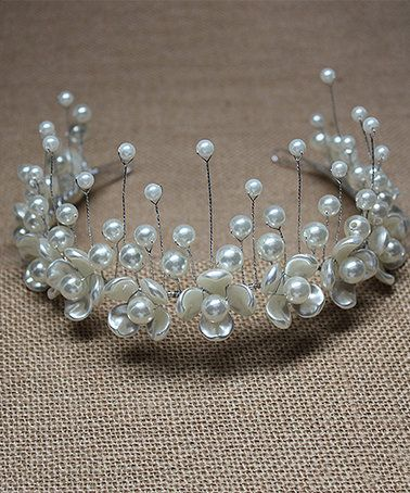 Look what I found on #zulily! Mother-of-Pearl & Silvertone Tiara #zulilyfinds