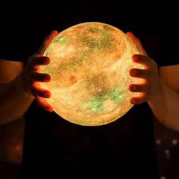 Colorful Moon Lamp Rechargeable Change Touch Usb Led Night Light Home Decor Creative Gift In 2020 Led Night Light Kids Christmas Night Light