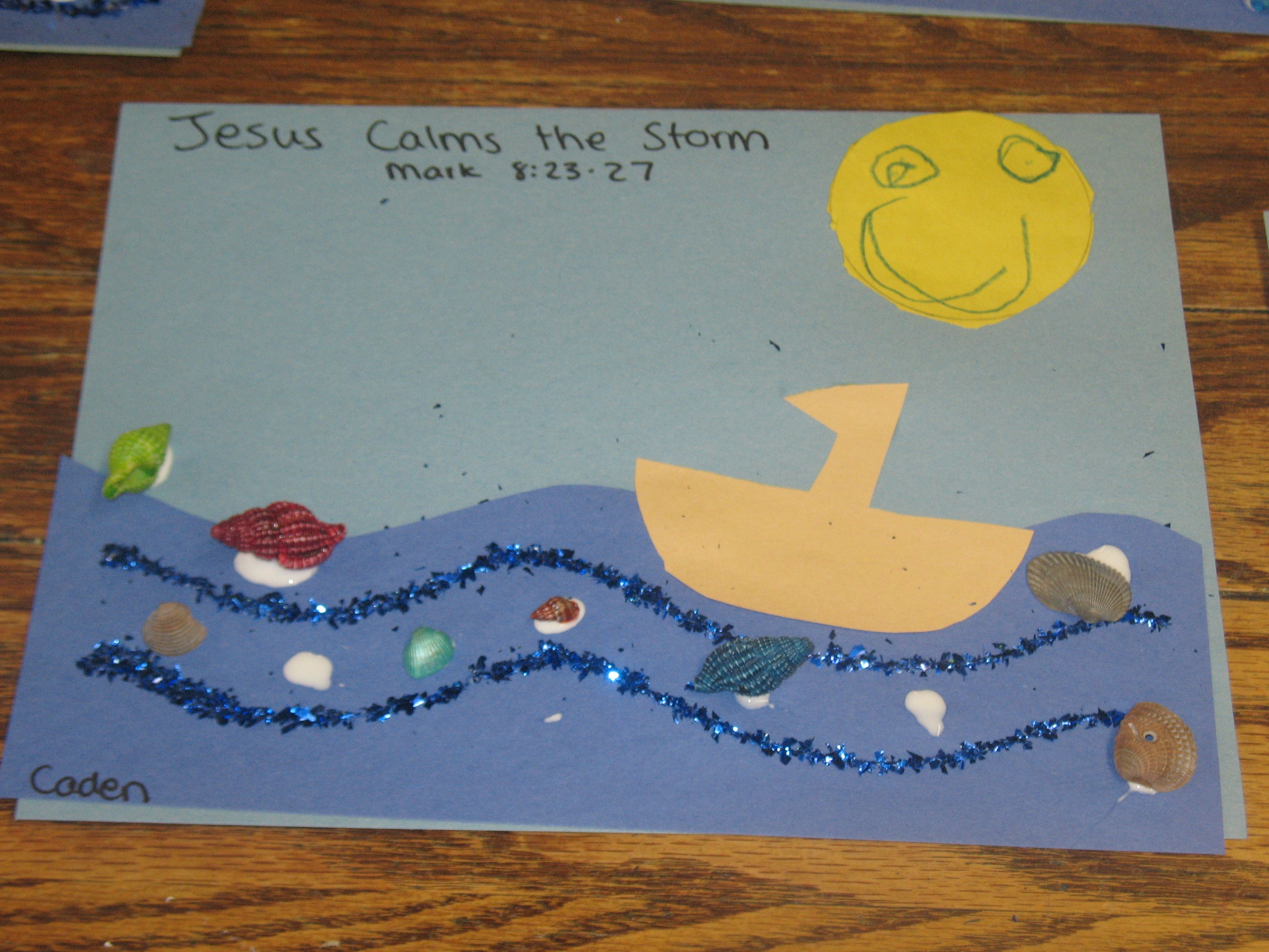 Jesus Calms The Storm Craft Activity We Did This With Our 2 4 Yr