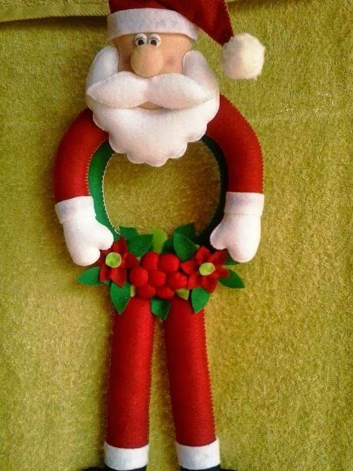 Adesivo Queimador De Gordura ~ Moldes Para Artesanato em Tecido Papai Noel com moldes MANUALIDADES DE NAVIDAD Pinterest