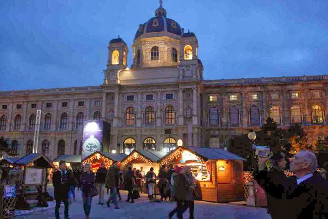 Christmas village on Maria Theresa Square Vienna © Copyright Monika Fuchs, TravelWorldOnline