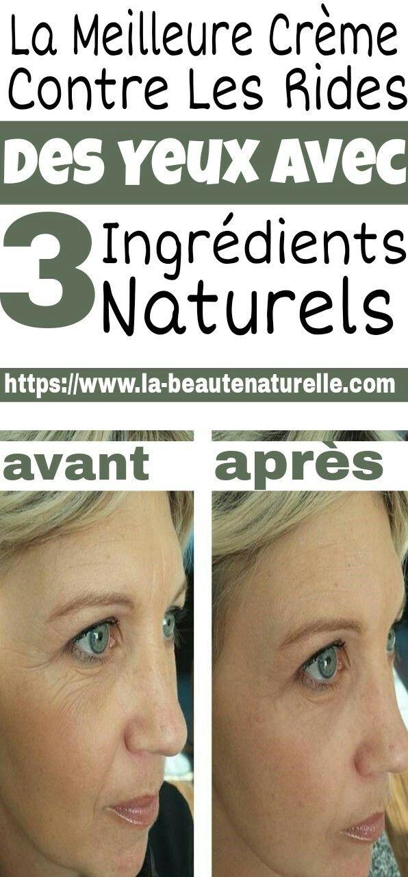La meilleure crème contre les rides des yeux avec 3 ingrédients naturels | Anti rides yeux ...