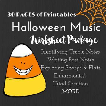 HALLOWEEN* Music Worksheets Worksheets, Halloween music and Music - halloween writing ideas