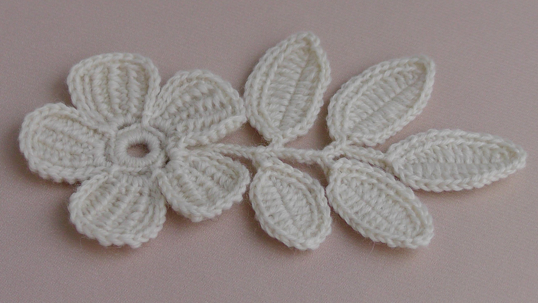 Вязание ЦВЕТКА. Урок вязания.Плоский цветок с лепестками тунисского ...