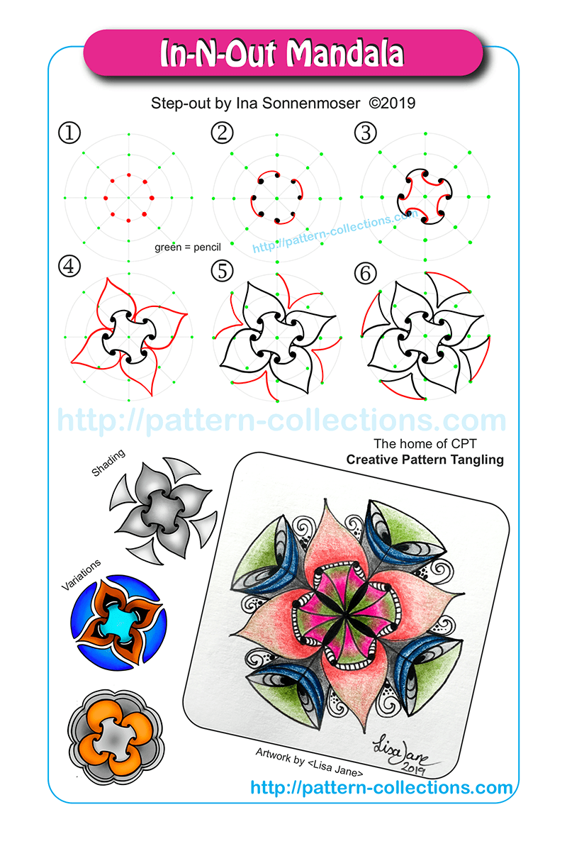 In N Out Mandala Pattern Collections Com Zentangle Patterns Zentangle Drawings Tangle Patterns