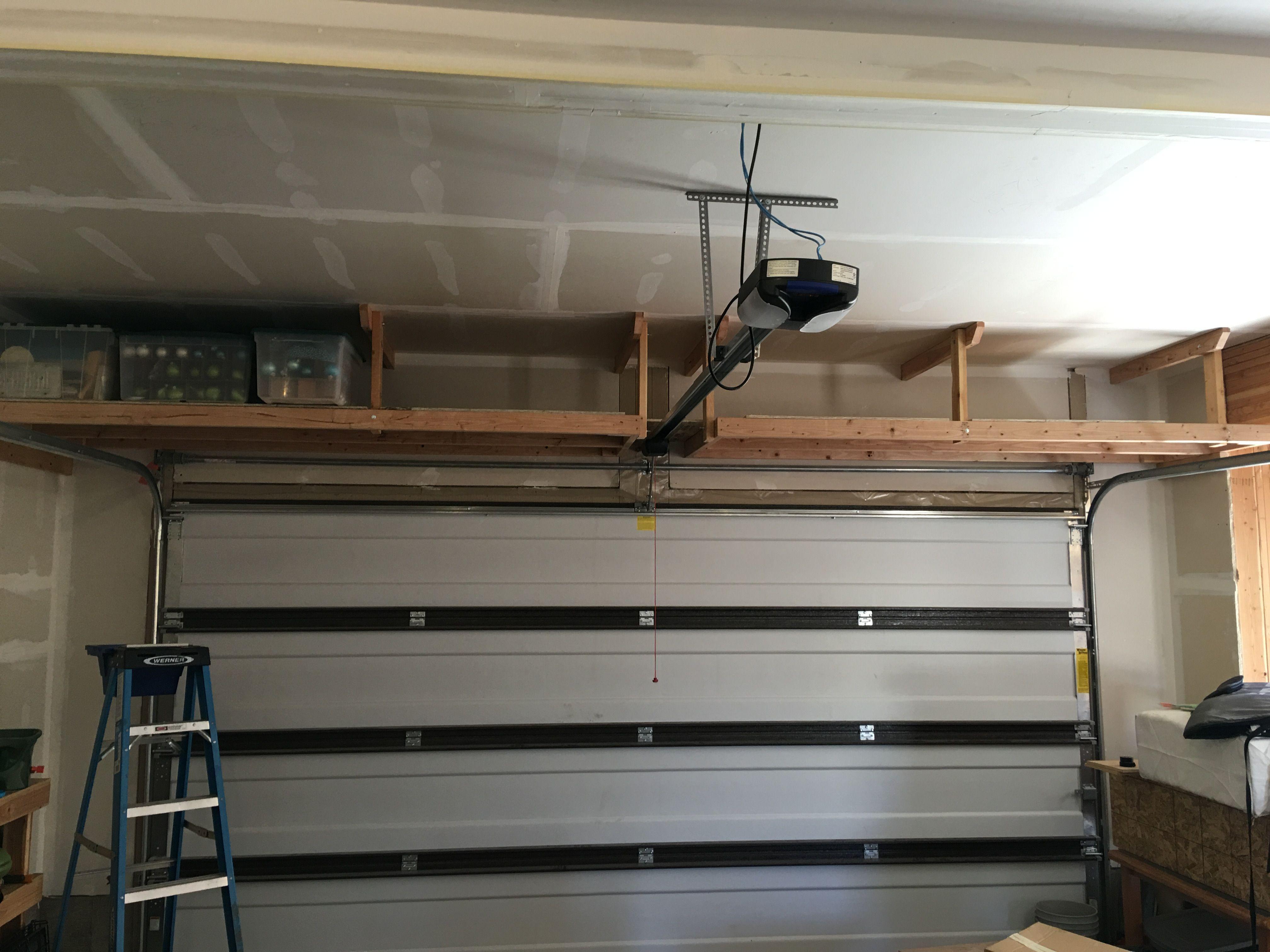 2 X 4 Garage Storage 2 X 4 Over Garage Door Storage Garage