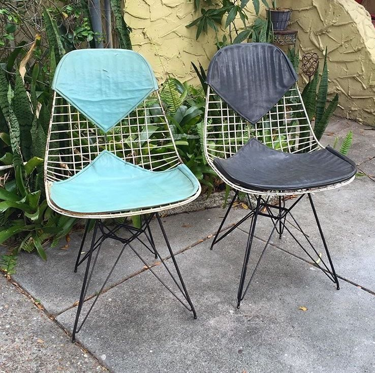 Remarkable Original 1950S Herman Miller Eames Wire Eiffel Chairs Evergreenethics Interior Chair Design Evergreenethicsorg