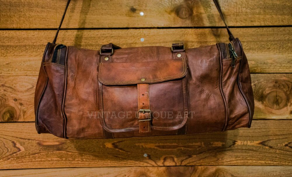 d495573263b5 Mens New Leather Luggage Duffel Travel New Bag Genuine S Brown Vintage Tote  Bag  Handmade  ToteBag
